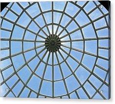 Glass Dome At Hall Of Liberation At Kelheim  Acrylic Print by Lori Seaman