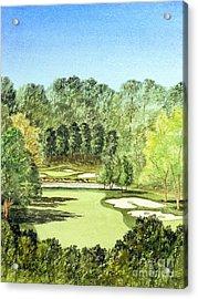 Glen Abbey Golf Course Canada 11th Hole Acrylic Print by Bill Holkham