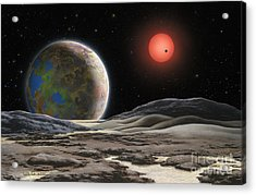 Gliese 581 C Acrylic Print by Lynette Cook