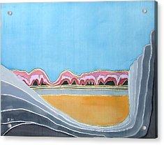 Global Warming Silk Melting Glaciers Valley Or Where Did All My Blue Glaciers Go  Acrylic Print by Rachel Hershkovitz