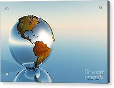 Globe Acrylic Print by Corey Ford