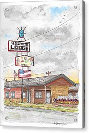 Globetrotter Lodge In Route 66, Holbrook, Arizona Acrylic Print by Carlos G Groppa