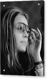 Gloria Steinem B. 1934, Feminist Acrylic Print by Everett