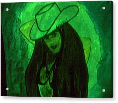 Glow Girl Acrylic Print by HollyWood Creation By linda zanini