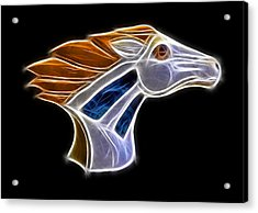 Glowing Bronco Acrylic Print by Shane Bechler