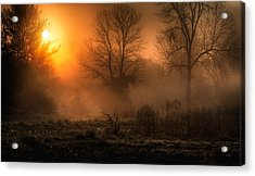 Glowing Sunrise Acrylic Print by Everet Regal