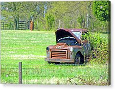 Gmc Retired Acrylic Print by Larry Bishop
