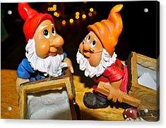 Gnome Friends Acrylic Print by Brynn Ditsche