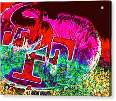 Go Niners 20130115 Acrylic Print by Wingsdomain Art and Photography