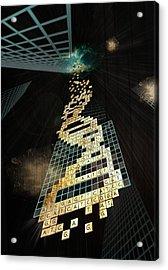 God Doesn't Play Dice Acrylic Print by Francois Domain