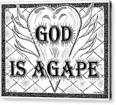 God Is Love - Agape Acrylic Print by Glenn McCarthy Art and Photography