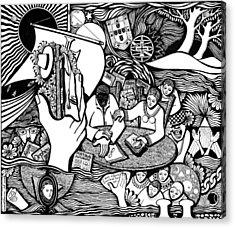 God Wills Man Dreams The Work Is Born Acrylic Print by Jose Alberto Gomes Pereira