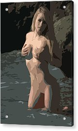 Goddess Of Water Acrylic Print by Brad Scott