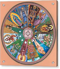 Goddess Wheel Guadalupe Acrylic Print by James Roderick