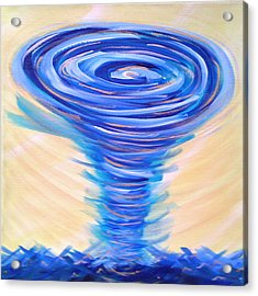 God's Power Overcomes Acrylic Print by Deborah Brown Maher