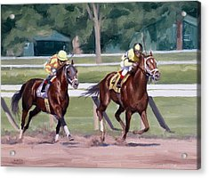 Going To The Whip Acrylic Print by Linda Tenukas