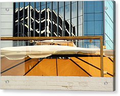 Gold Bar And Cafe Acrylic Print by Ross Odom
