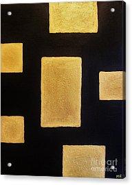 Gold Bars Acrylic Print by Marsha Heiken
