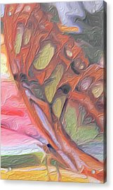 Gold Butterfly Paintng Abstract Acrylic Print by Don  Wright