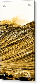 Gold Nugget -  Part 3 Of 3 Acrylic Print by Sean Davey
