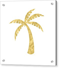 Gold Palm Tree- Art By Linda Woods Acrylic Print by Linda Woods