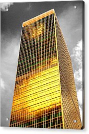 Buildings Acrylic Print featuring the photograph Gold by Roberto Alamino