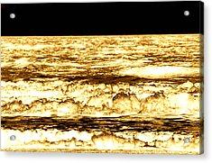 Gold Waves Acrylic Print by Duke Brito