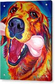 Golden - My Favorite Bone Acrylic Print by Alicia VanNoy Call