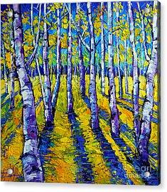 Golden Autumn Symphony Acrylic Print by Mona Edulesco