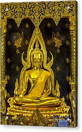 Golden Buddha  Acrylic Print by Anek Suwannaphoom