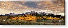 Golden Colorado Panorama Acrylic Print by Andrew Soundarajan
