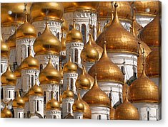 Golden Domes Acrylic Print by Joe Bonita
