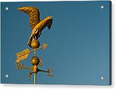 Golden Eagle Weather Vane Acrylic Print by Douglas Barnett