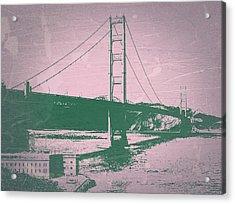 Golden Gate Bridge Acrylic Print by Naxart Studio