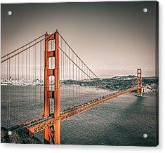 Golden Gate Bridge Selective Color Acrylic Print by James Udall