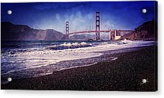 Golden Gate Acrylic Print by Everet Regal