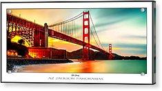 Golden Gate Sunset Poster Print Acrylic Print by Az Jackson