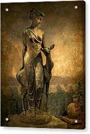 Golden Lady Acrylic Print by Jessica Jenney