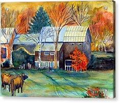Golden Ohio Acrylic Print by Mindy Newman