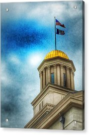 Golden Shine Acrylic Print by Jame Hayes