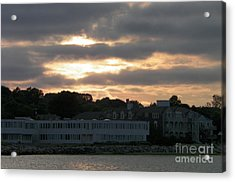 Golden Sky Of Plymouth 2 Acrylic Print by Gina Sullivan