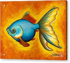 Goldfish Acrylic Print by Sabina Espinet