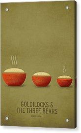 Goldilocks And The Three Bears Acrylic Print by Christian Jackson