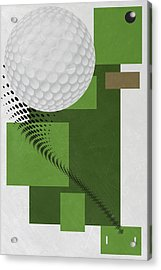 Golf Art Par 4 Acrylic Print by Joe Hamilton