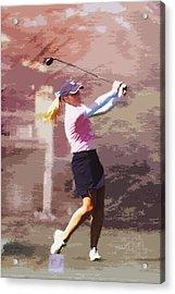 Golfer Acrylic Print by David Haskett