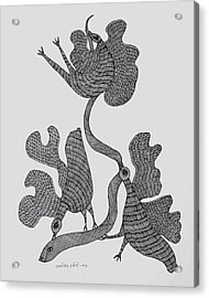 Gond 2006 Acrylic Print by Ram Singh Urveti