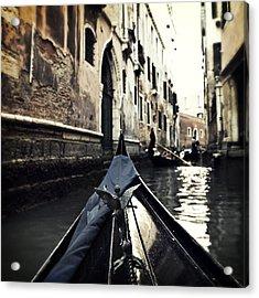 gondola - Venice Acrylic Print by Joana Kruse