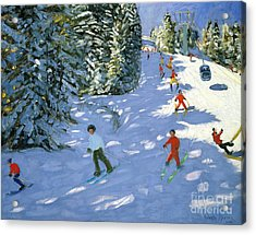 Gondola Austrian Alps Acrylic Print by Andrew macara