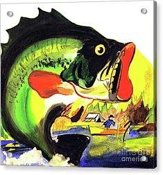 Gone Fishing Acrylic Print by Linda Simon