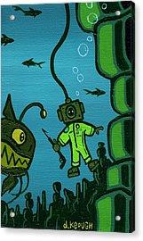 Gone Fish'n Acrylic Print by Dan Keough